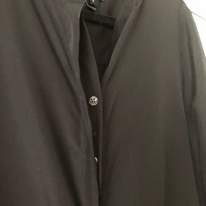 J. Crew Tops - J Crew black 1/2 button down shirt